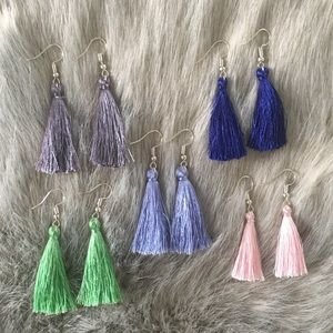 Bundle of 5 Tassel Earrings